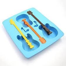 RIANZ 1Pcs Home Fashion <b>DIY Silicone Ice</b> Tray Mould Guitar ...
