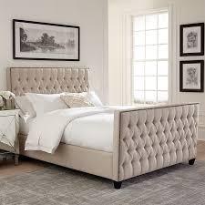 Scott Living Oatmeal Upholstered Bed. Multiple Sizes