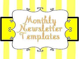 Monthly Newsletter Template For Teachers Teacher Templates Free Template Free Kindergarten Newsletter Class