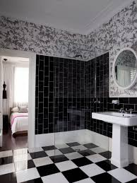 unique white bathroom designs. New Black Subway Tile Home Design Ideas Pictures Remodel And Decor Unique White Bathroom Designs