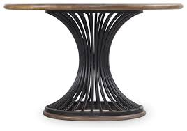 cornelius metal and wood round dining table small