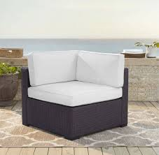 biscayne corner chair w white cushions