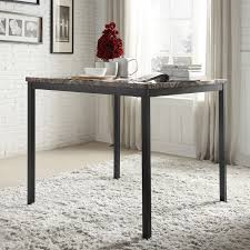 Darcy Faux Marble Black Metal Counter Height Dining Table by iNSPIRE Q Bold  - Free Shipping Today - Overstock.com - 16558377