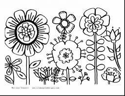 Spring Flowers Coloring Pages To Print Floweroloring For Kidsawesome