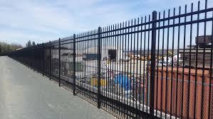 metal fence design. Overhead Track Metal Security Fence. High Fence Design