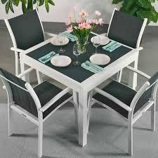 Ensemble Table à Manger Et Chaises Ruby Blanc Gris Table