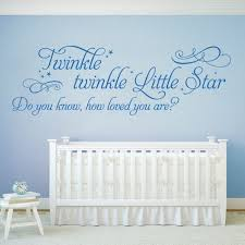 >wall designer twinkle twinkle little star do you know how loved  baby nursery wall art sticker twinkle twinkle little star do you know how loved you are