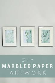 diy bathroom decor ideas for teens marbled paper art using nail polish best creative