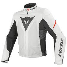 dainese laa evo summer leather jacket white red thumb 0