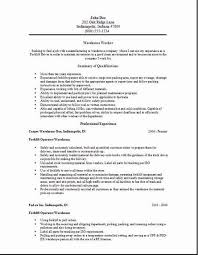 Warehouse Resume Fascinating Warehouse Resume Examples General Worker Sample Com Utmostus