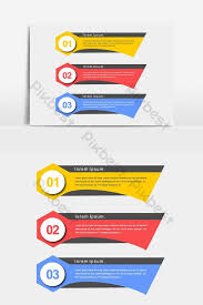 Infographic Colorful Presentation Banners Vector Graphic
