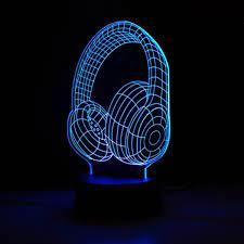 Kulaklık 3D Led Gece Lambası