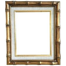 white vintage picture frames gold bamboo linen matted frame a liked on uk
