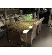 Holz Recyceltes Tisch L Holz Glasplatteesstisch Glasplatte