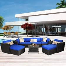 rattan outdoor furniture garden sofa set