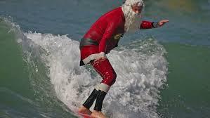 Bilderesultat for julemanden svømmer