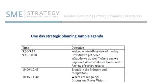 Sample Of Agenda One Day Strategic Planning Meeting Sample Agenda