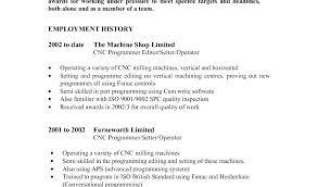 Machine Operator Job Description For Resume New Machinist Resume