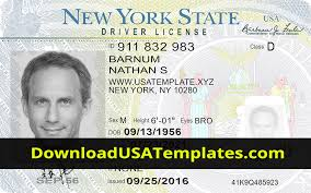 Us Passport Template Psd New York Driving License Psd File Download Ny Editable