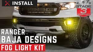 Fog Light Design 2019 Ford Ranger Baja Designs Squadron Sae Compliant Off Road Led Fog Light Kit Install