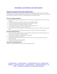 Cover Letter Electronic Assembly Job Description Electronic