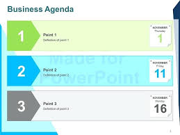 Powerpoint Agenda Template Buildingcontractor Co