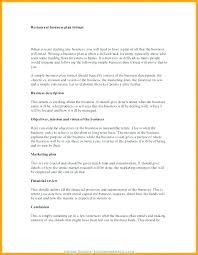A Simple Business Plan Template Food Business Plan Template
