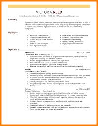 Restaurant Resume Example Html Editor Sample Resume Institutional