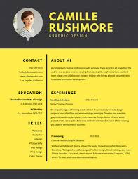 Graphic Design Resume Template Inspiration Customize 28 Graphic Design Resume Templates Online Canva