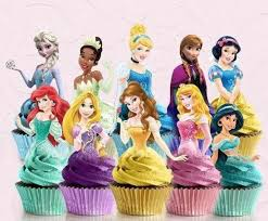 Disney Princess Cake Toppers Rapunzel Cupcake Toppers Printable Download