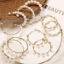 IF YOU <b>Sea Shell</b> Earrings For Women <b>Gold</b> Silver Color <b>Metal Shell</b> ...