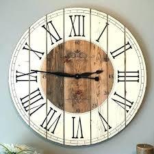 distressed wood wall clock