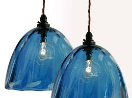 hand blown glass pendant lights lampshades uk