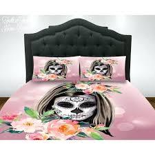 skull comforter set queen sugar skull comforter set duvet cover skull bedding day of the dead skull comforter set