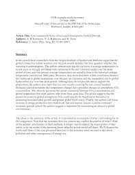 Apa Article Summary Example Cocuseattlebabyco