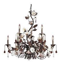 magnificent elk lighting chandelier elk lighting 9 light chandelier in deep rust elk lighting viviana chandelier