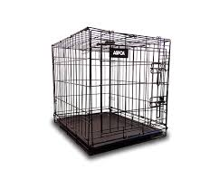 Amazon.com : ASPCA AS6012L Folding Metal Pet Crate Kennel with Removable  Tray, 36 x 23 x 25