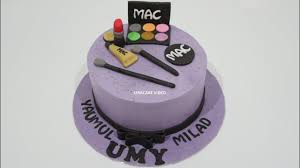 simple easy how to decorate birthday cake makeup purple