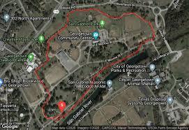 Georgetown, tx 78626 san gabriel park map. San Gabriel Park Trail Georgetown Texas