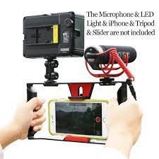 kamera dslr Ulanzi Handheld Video Rig Stabilizer for Live streaming /  Vlogger/ Youtube with 96 Led