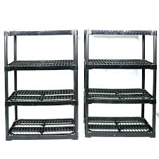 hdx plastic shelving plastic storage shelving pair of black plastic storage shelves plastic ventilated storage shelving