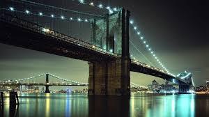 Brooklyn Bridge Lights Brooklyn Bridge City Urban Bridge Lights Hd Wallpaper