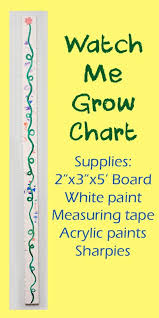 Watch Me Grow Chart Watch Me Grow A Diy Growth Chart Posts From Candle In