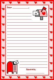 Valentines Day Letter Template Blank Writing Paper For 1st Graders Luxury Valentines Day Letter