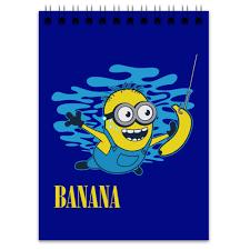 Блокнот <b>Banana</b>. <b>Миньоны</b> #1066460 от geekbox