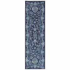 home decorators collection jackson indigo 2 ft x 7 ft runner rug