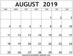 August Calandar August 2019 Printable Calendar Free Printable Calendar Com