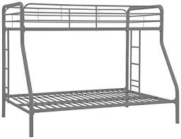 metal bunk bed twin over full. DHP Twin-Over-Full Bunk Bed With Metal Frame And Ladder, Space- Twin Over Full