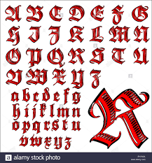 Lettering Letters Design Abc Alphabet Lettering Design Set Stock Vector Art