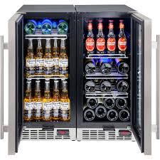 exceptional bar fridge glass door zone wine and beer underbench glass door bar fridge combination